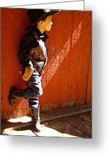 Lil Cowboy In Sun Greeting Card