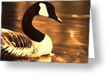 Lila Goose The Pond Queen Sepia Greeting Card