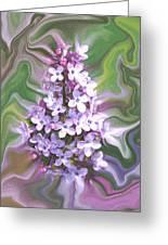 Lilac Abstract Greeting Card