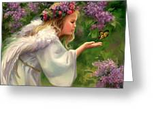 Lilac Angel Greeting Card