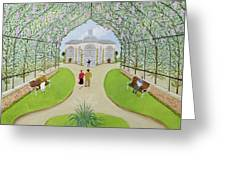Lilac Arbour Oil On Board Greeting Card