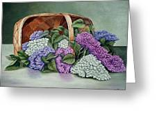 Lilac Basket Greeting Card