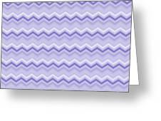 Lilac Chevron Greeting Card