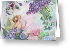 Lilac Enchanting Flower Fairy Greeting Card