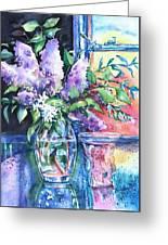Lilac Light Greeting Card