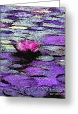 Lilac Lily Pond Greeting Card
