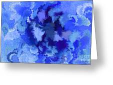 Lilac Of The Valley Blue White Greeting Card