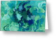 Lilac Of The Valley Teal Green Greeting Card