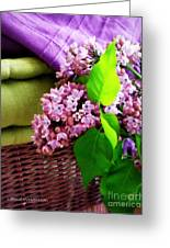 Lilac Still Life Greeting Card