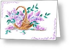 Lilac Vintage Impressionism Painting Greeting Card