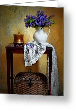 Lilacs And Lace Greeting Card by Diana Angstadt