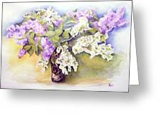 Lilacs Bouquet Greeting Card