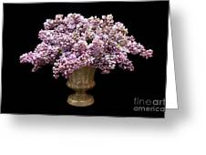 Lilacs In A Green Vase - Flowers - Spring Bouquet Greeting Card