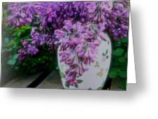 Lilacs Perfume Greeting Card