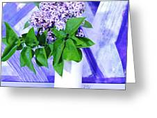 Lilacs With Abstract Greeting Card