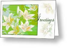Lilies Greeting Card Greeting Card