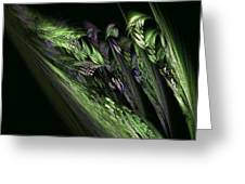 Lilies Of The Fractal Valley Greeting Card