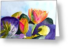 Lilies Of The Water Greeting Card
