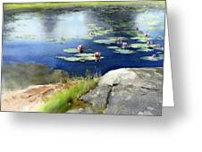 Lilies Pond Greeting Card