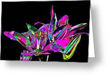Lilies Pop Art Greeting Card
