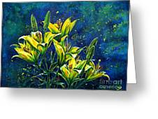 Lilies Greeting Card by Zaira Dzhaubaeva