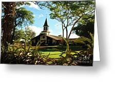 Liliuokalani Church - Haleiwa Hawaii Greeting Card