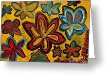 Lillies In Space Greeting Card