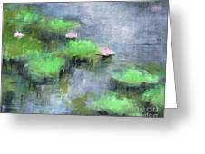 Water Lilly's  Greeting Card