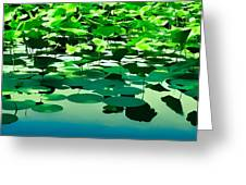 Lilly Pads Of Reelfoot Lake Greeting Card