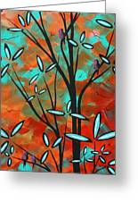 Lilly Pulitzer Inspired Abstract Art Colorful Original Painting Spring Blossoms By Madart Greeting Card