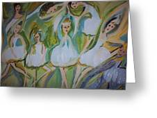 Lily Allegro Ballet Greeting Card