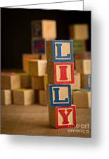 Lily - Alphabet Blocks Greeting Card