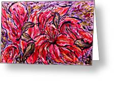 Lily Glow Greeting Card