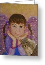 Lily Isabella Little Angel Of The Balance Between Giving And Receiving Greeting Card