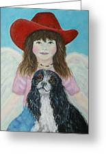 Lily Little Angel Of Self Empowerment Greeting Card by The Art With A Heart By Charlotte Phillips