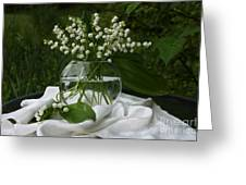 Lily-of-the-valley Bouquet Greeting Card by Luv Photography