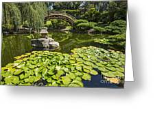 Lily Pad Garden - Japanese Garden At The Huntington Library. Greeting Card
