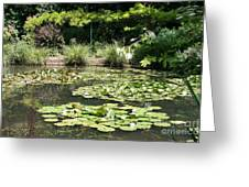 Lily Pond View Monets Garden Greeting Card