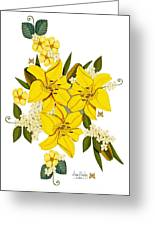 Lily Triplets Greeting Card