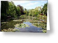 Lilypond Monets Garden Greeting Card