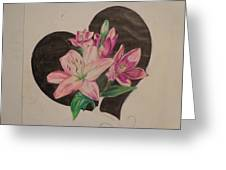 Lilys Of Love Greeting Card