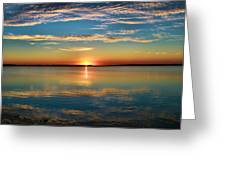 Lima Ohio Sunset Greeting Card