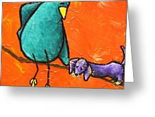 Limb Birds - You Get It Greeting Card by Linda Eversole