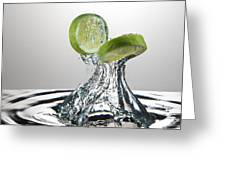 Lime Freshsplash Greeting Card