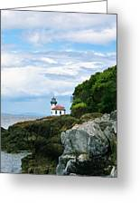 Lime Kiln Point Lighthouse Greeting Card