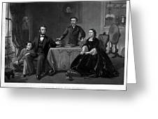 Lincoln And Family Greeting Card