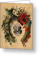 Lincoln And Garfield Greeting Card