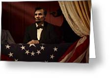 Lincoln At Fords Theater 2 Greeting Card