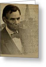 Lincoln At Gettysburg Greeting Card