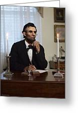 Lincoln At His Desk 2 Greeting Card by Ray Downing